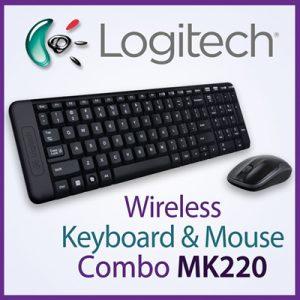Keyboard & Mouse Logitech Wireless MK220