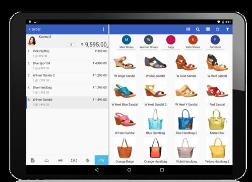 Retail pos software Shoe store